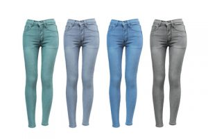 Skinny jeans in different color